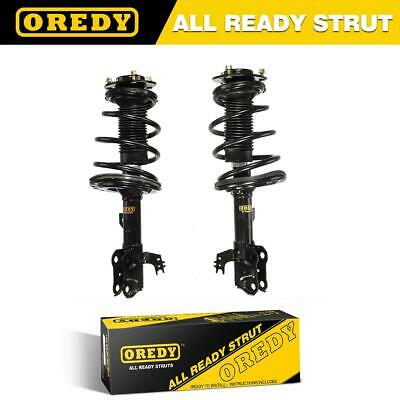 Front Pair Complete Struts & Coil Spring w/ Mounts for 2012-2014 Toyota Camry SE