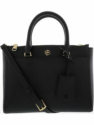 Tory Burch Women's Small Robinson Double-Zip Leather Top-Handle Bag Tote