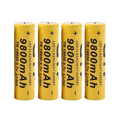 18650 3.7V 9800mAh Li-ion Rechargeable Battery Cell For Flashlight Torch LED