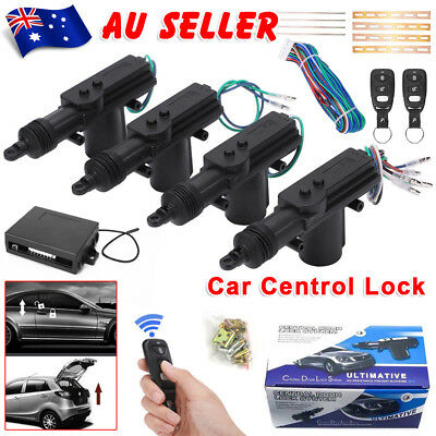 Car Remote Central Lock Locking Kit Control 4 Door Security System Entry Keyless