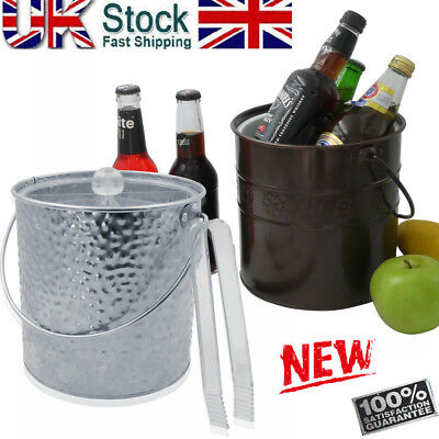 3 L Insulated Double-Wall Ice Bucket Wine Chiller Galvanized Iron Ice Container