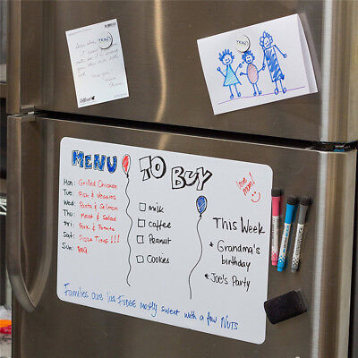 A3/A4 Reminder Fridge Magnetic Whiteboard Family Message Board Office Memo FT