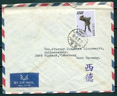 Taiwan Rep. Of China 1976 Cover, Catholic Mission Wanluan To Germany -Cag 091018
