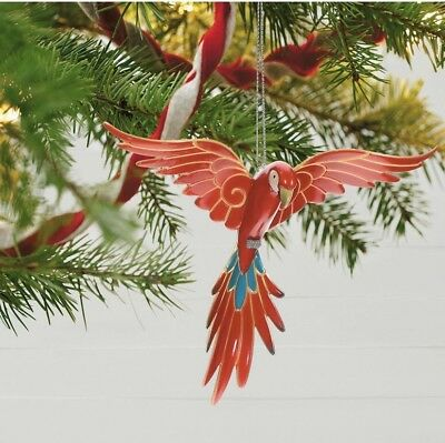 Hallmark 2018 Limited Edition  PRETTY PARROT KOC Member Exclusive Ornament Macaw
