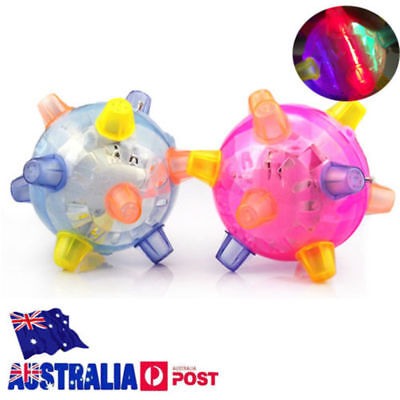 LED Light Jumping Activation Ball Light Music Flashing Bouncing Vibrati Toy AU