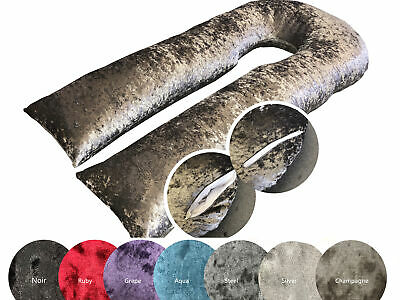 Stylish Crushed Marble Velvet / Velour U Shaped Pregnancy Support Pillow
