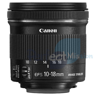 100% New .  Genuine .  Canon EF-S 10-18mm f/4.5-5.6 IS STM Lens  + Warranty