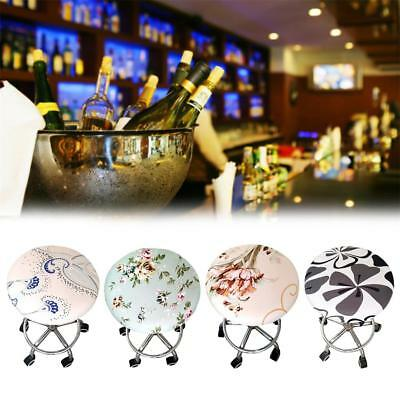 1Pc Bar Stool Covers Round Chair Seat Cover Cushions Sleeve 10 Color Washable