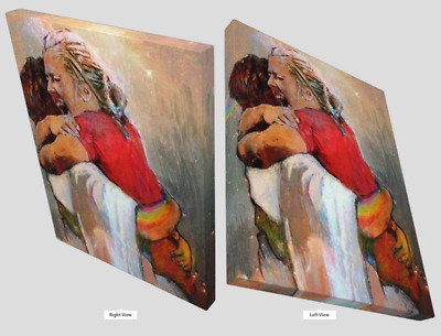 First Day In Heaven - I HELD HIM And Would Not Let Him Go Canvas Wall Print