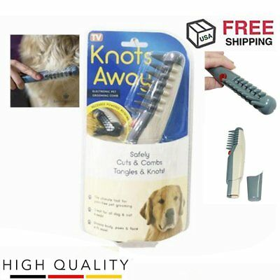 Knot Away Out Electric Pet Grooming Comb Black Grey for cats and dog Pet (U