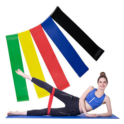 Gym Leg Arm Stretch Resistance Exercise Loop Bands Sports Workout Elastic Band