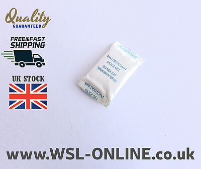 65 x 1g Packets of Silica Gel Sachets Desiccant Pouches 38x20mm size Bags