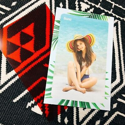 [TWICE SaNa] Message Photocard Official New Summer Nights 2nd Special 사나