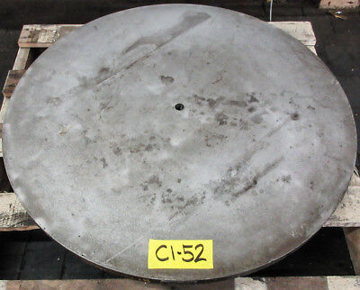 "30"" Round Cast Iron Surface Fixture Layout Plate for Metalworking"