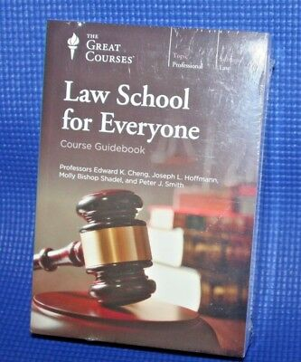 The Great Courses ~ Law School for Everyone ~  DVDs and Guidebook ~ Brand New!