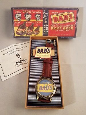 Collectible Dad's Old Fashioned Root Beer Mens Collectible Watch New In Box