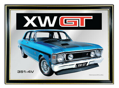 Wall Mirror Artwork Of Ford Falcon Xw Gt Starlight Blue Suit Bar Mirror Picture