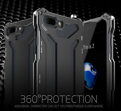 For iPhone 5s SE 6s 7 Plus Luxury Shockproof Aluminum Metal Slim Hard Cover Case