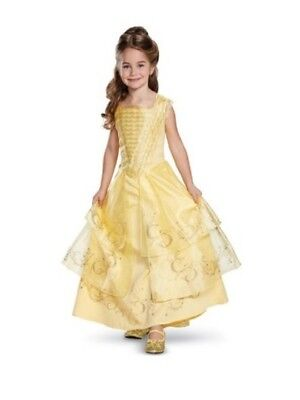 Girls' Disney Princess Belle Deluxe Costume - M (7-8), Yellow