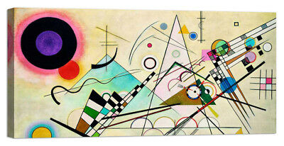 Stampa su Tela Vernice Effetto Pennellate WASSILY KANDINSKY Composition VIII