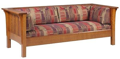 Mission Arts and Crafts Stickley Style Prairie Spindle Sofa Couch Made to Order!