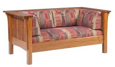 Admirable Mission Arts And Crafts Stickley Style Prairie Panel Settle Uwap Interior Chair Design Uwaporg