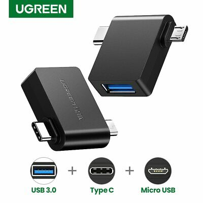 Ugreen USB 3.0 OTG Cable Adapter Micro USB Type C 3 in 1 Converter for Samsung