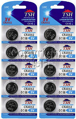 TSH 10 PC CR 2032 3V Lithium Coin Cell Watch Batteries CR2032 Battery FREE SHIP