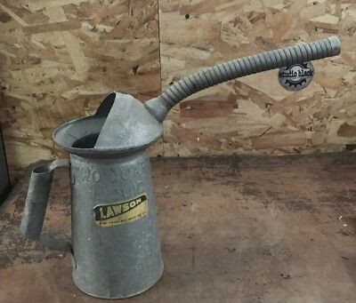 Vintage Antique Galvanized Metal Lawson Watering Oil Can Gardening Tool #2