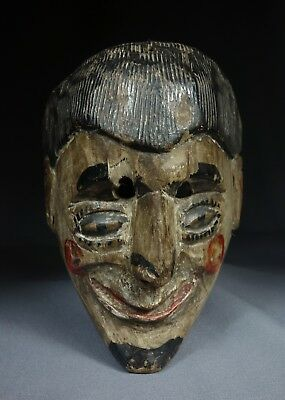 Antique Vintage Hand-Carved Patron Traditional Dance Mask from Guatemala