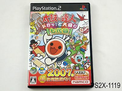 Taiko no Tatsujin 7 Doka Nanadaime Playstation 2 Japanese Import PS2 US Seller