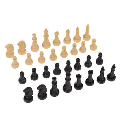 Plastic Chess Pieces Board Game Pawns - No Board - 1.9 Inch King, Pack of 32