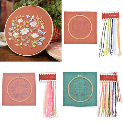 DIY Ribbon Embroidery Practice Kits Floral Needlecraft Material DIY Wall Decor