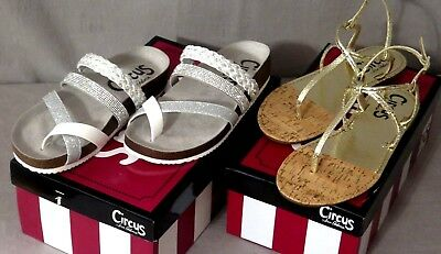 571ffd0af73c Circus by Sam Women s Oakley Slide Or Briget T-Strap Asst. Sizes   Colors