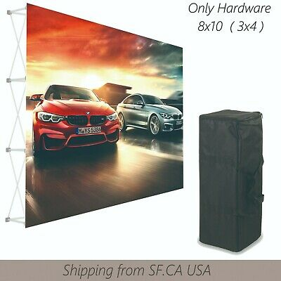 8x10ft,Velrco Tension Fabric Backdrop Booth Frame Straight Pop Up Display Stand