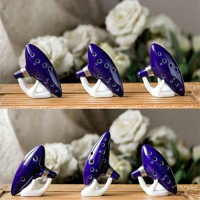 12 Hole New Ocarina Ceramic Alto C Legend of Zelda Ocarina Flute Blue Fashion