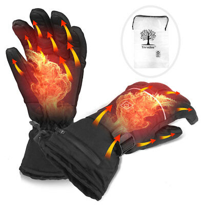 Charge Electric Battery Powered Touchscreen Winter Warm Heated Full Finger Glove