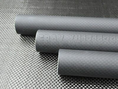 6mm x 4mm x 1000mm 3K Roll Wrapped Carbon Fiber Tube/Tubing/ Glossy/Matte 6*4 US