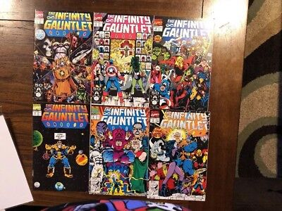 The Infinity Gauntlet High Grade Marvel Comics Thanos #1-6 Ships In Gemini 1