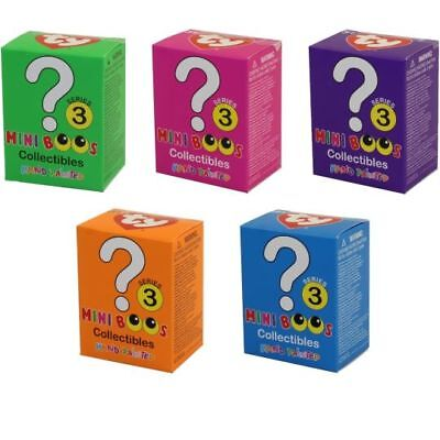 Set of 5 TY Beanie Boos Mini Boo (SERIES 3) Collectible Figurines BLIND BOXES