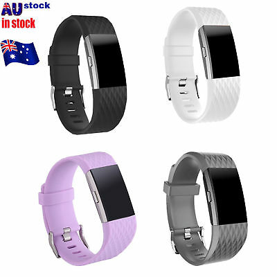 FOR Fitbit CHARGE 2 Replacement Silicone Rubber Bands Strap Wristband Bracele ON