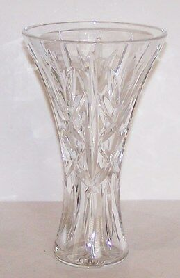 """Stunning Signed Waterford Crystal 8""""  Beautifully Cut Vase"""