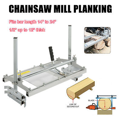 """Portable Chainsaw Mill Planking Milling Bar 14"""" to 24"""" Wood Lumber Cutting"""
