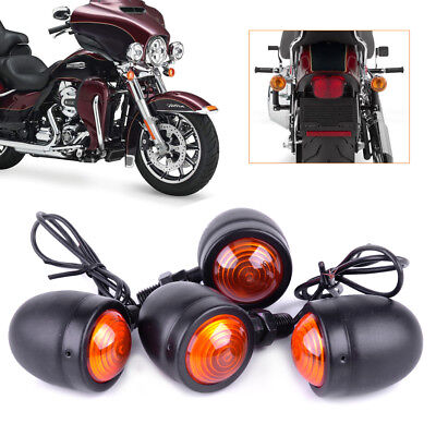 4X Ambre Moto clignotants Bullet Lampe pour Harley Turn Signal Light Indicator