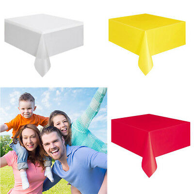 Hot Selling Multicolor Plastic Table Cover Party Wedding Rectangle Disposable