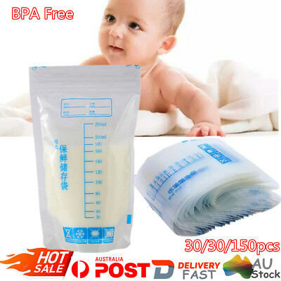 250ml Pre-sterilised Baby Breast Milk Storage Bags Pouch BPA Free 30/60/150PCS