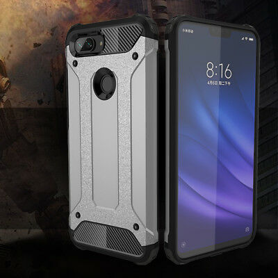 For Xiaomi Mi 8 Lite Protective Hybrid Shockproof Armor Hard Cover Silicone Case