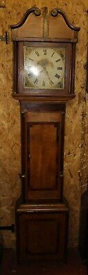 30 x Hour Grandfather Clock by Owen Davues from Llanidloes. Oak Case. 1880