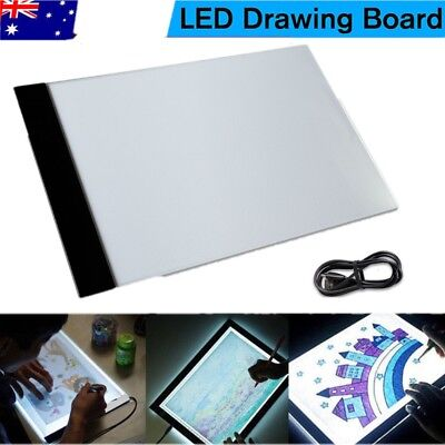 LED Art Tattoo Stencil Board Light Tracing Drawing Pad Table Box Dimmable A4