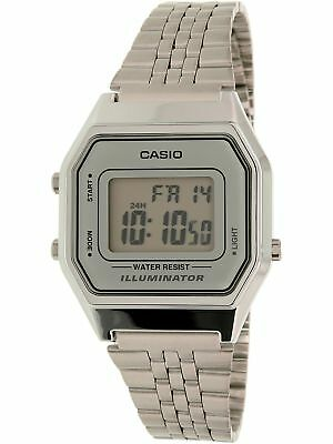 Casio Women's Illuminator LA680WA-7 Silver Stainless-Steel Plated Japanese Qu...